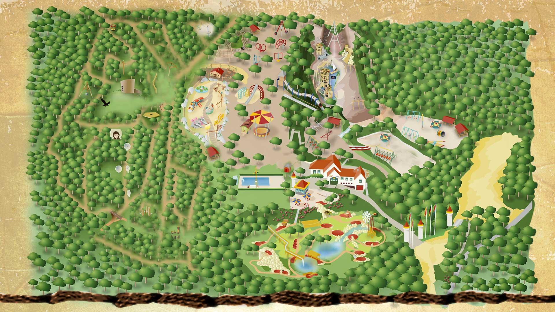 Plattegrond Speelpark Klein Zwitserland